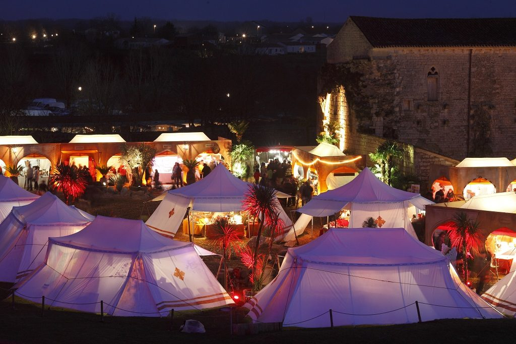 Marché de Noel à Maillezais en sud Vendée
