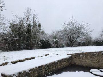 Gite de Vendée, gite de la Gravée sous la neige, gite de la Gravée