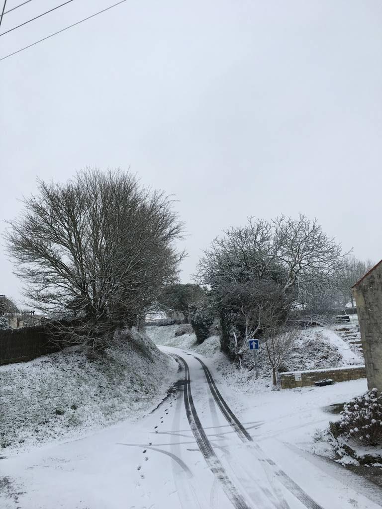Gite de Vendée sous la neige