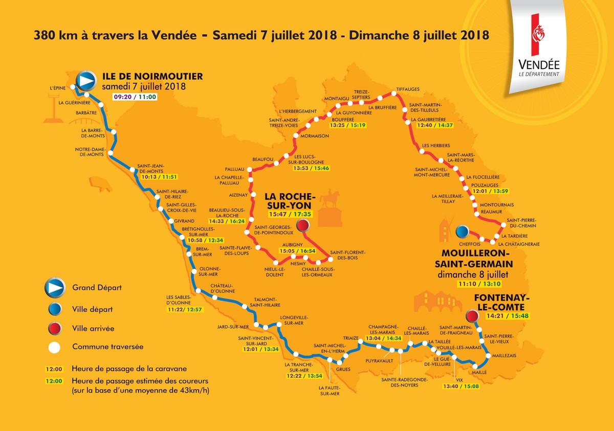 Tour de France à 5 minutes du gite de la Gravée Vendée