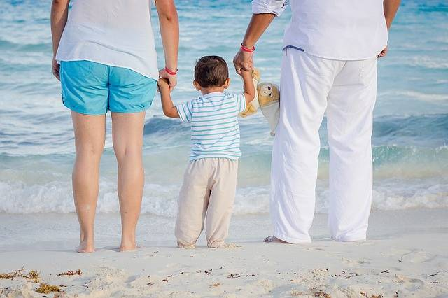 En famille à la plage en Vendée