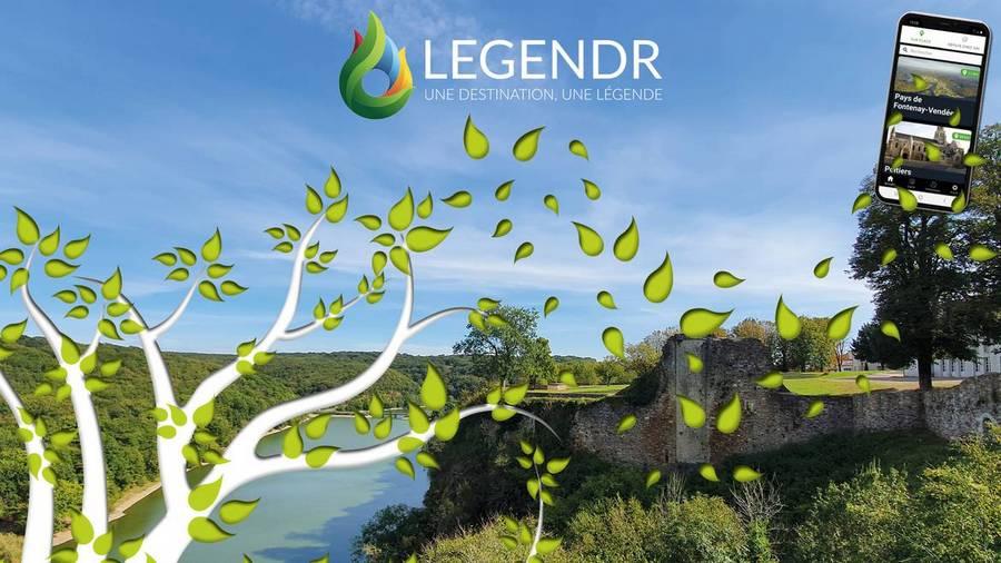 Avec Legendr et votre smartphone, une balade numérique à Mervent à quelques kilomètres du gite de la Gravée