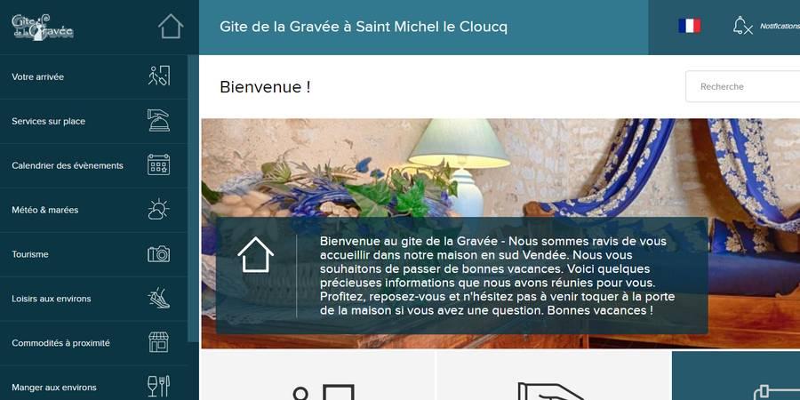 Notre livret numérique à installer sur votre smartphone avant votre séjour au gite de la Gravée